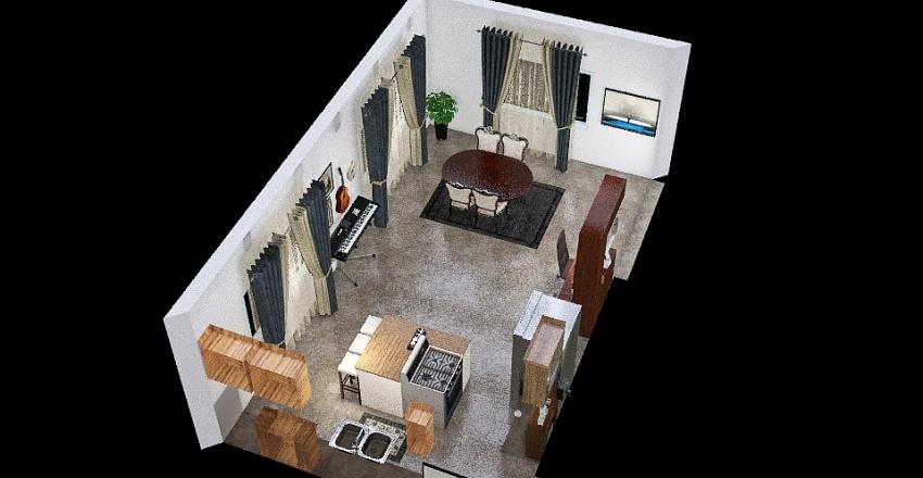 remodelacion cocina-comedor Interior Design Render