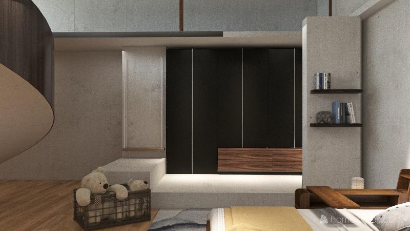 Simple Japandi Decor Interior Design Render
