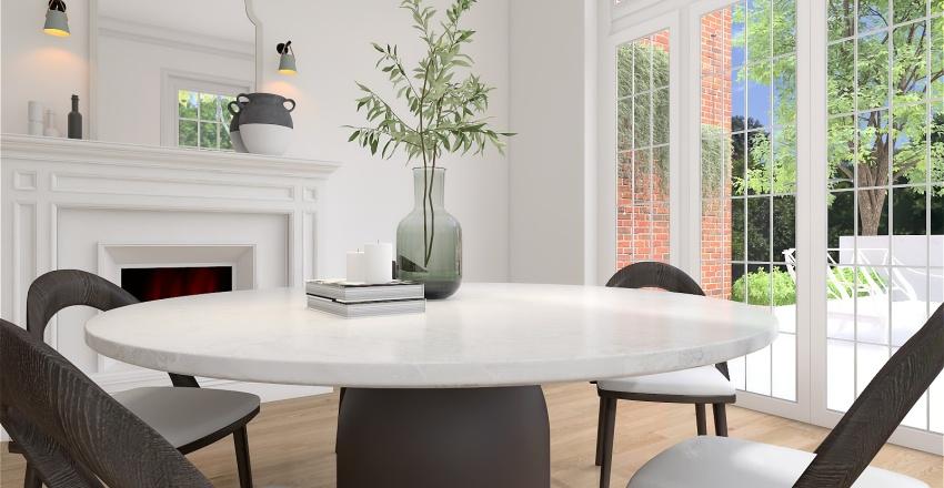 Classic Black and White Update Interior Design Render