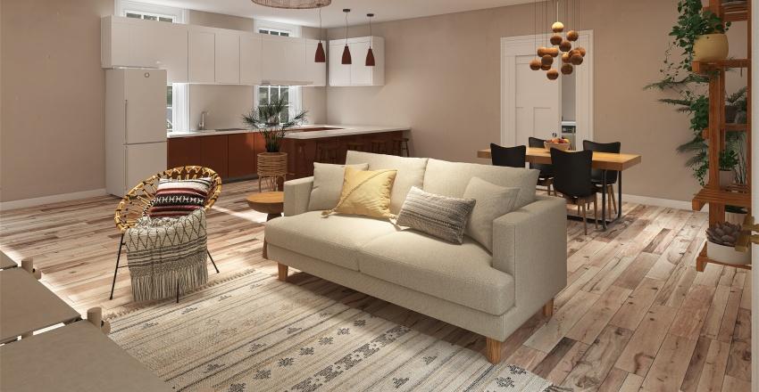Bohemian Cottage Interior Design Render