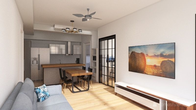 JF_33_Style2 Interior Design Render