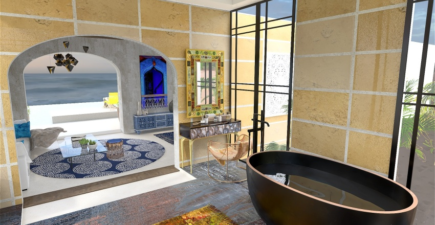 chambres d'hotes quelque part en orient Interior Design Render