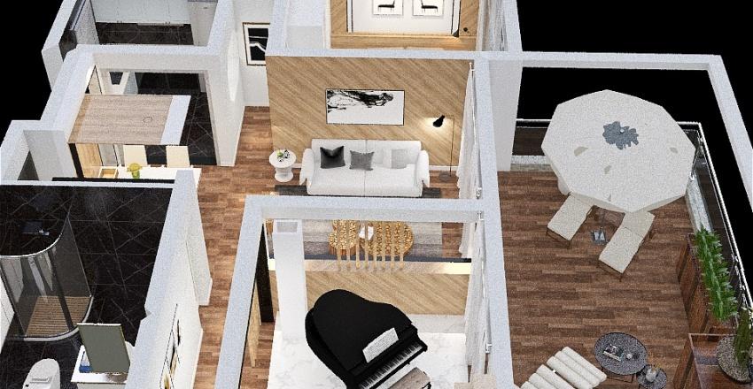 Nature Inspired Condo Interior Design Render