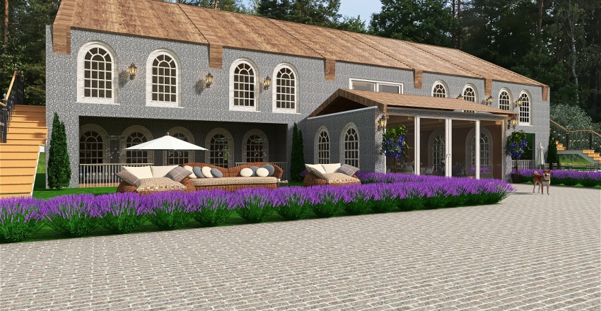 Çiftlik evi Interior Design Render