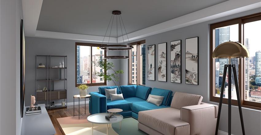 Livivng Room Interior Design Render