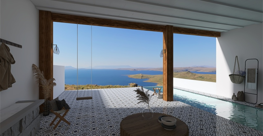 : mediterranean villa : Interior Design Render