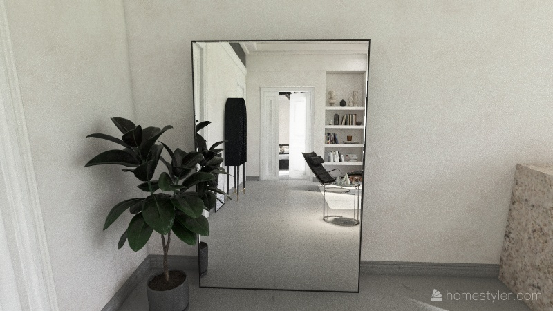 Bauhaus Style Suite Interior Design Render