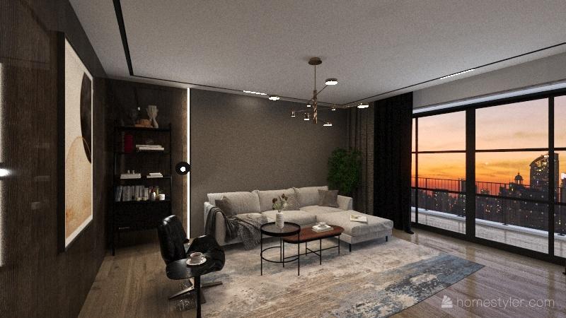 SalaTv Interior Design Render