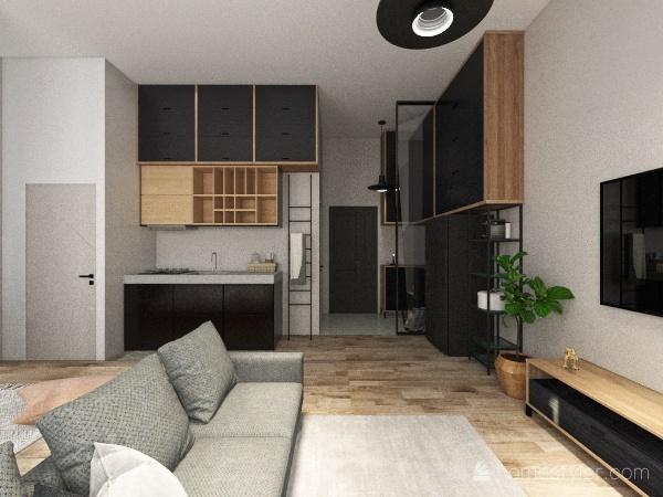 0812 無閣樓 廚房廁後 Interior Design Render