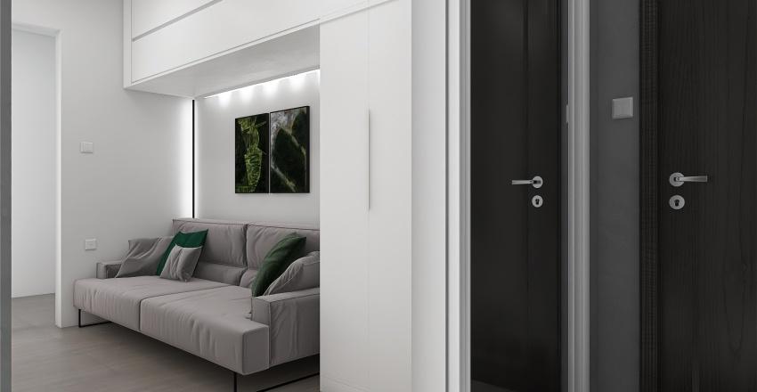 Трёхкомнатная квартира Interior Design Render