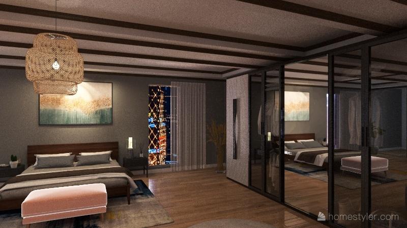PATTERN Bedroom Interior Design Render