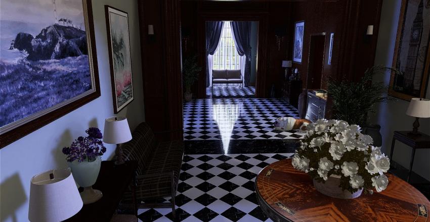 Traditional Luxury Mansion Interior Design Render