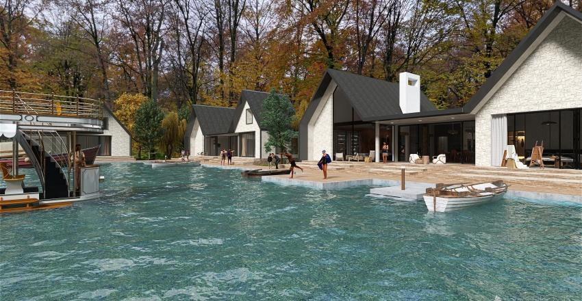 Las casas del lago Interior Design Render