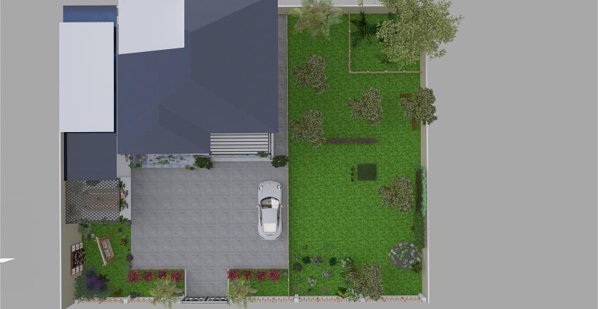 KT House Nâu Interior Design Render
