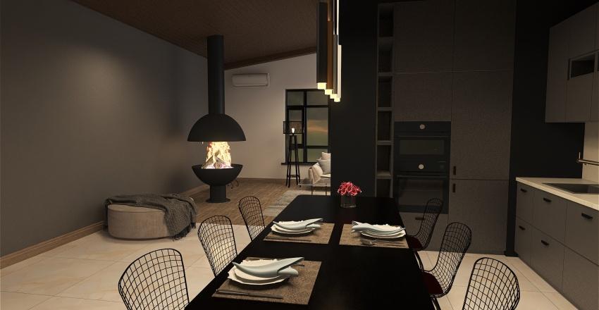 современный стиль Interior Design Render