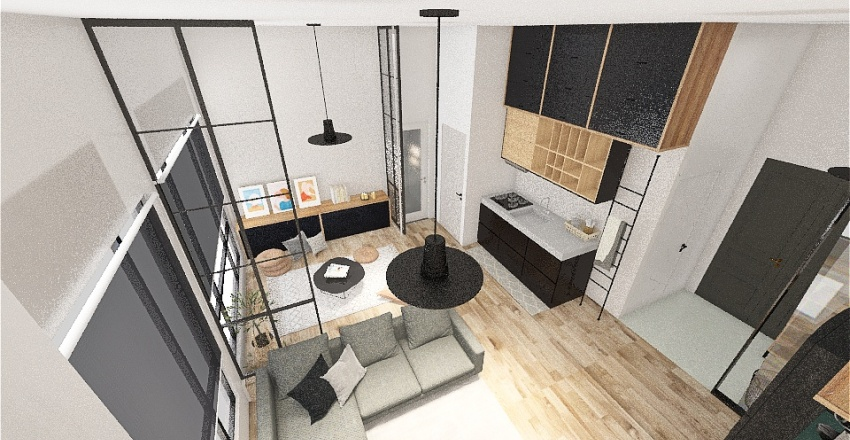 Copy of 0810 無閣樓 和室拉簾 Interior Design Render
