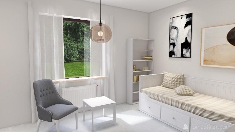 Krakowska pokoj Interior Design Render