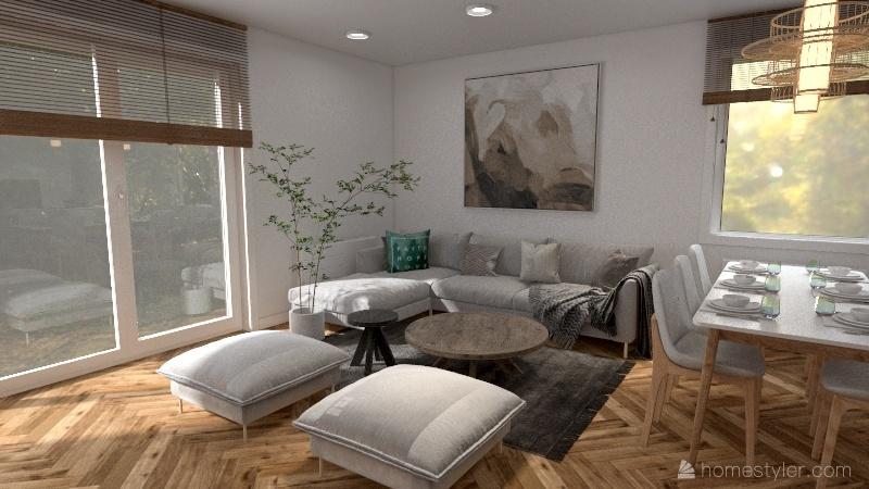 Copy of plan parter salon 1 Interior Design Render