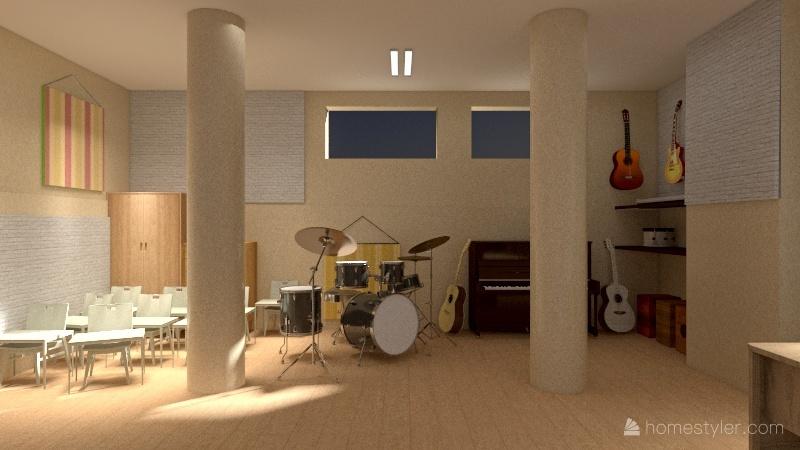 Salón de Arte. Parte Gen 2021: Remodelación.  Interior Design Render