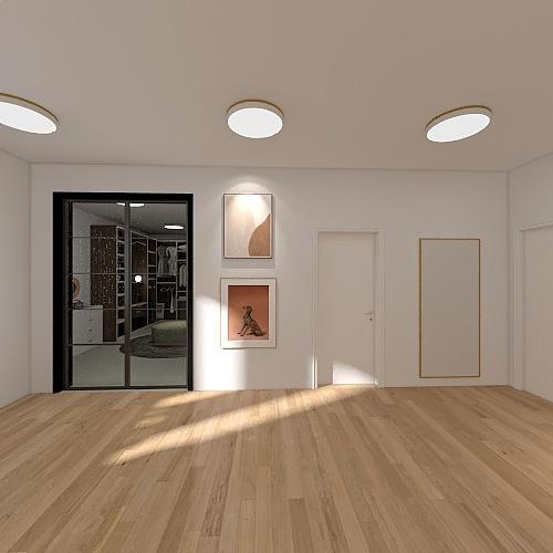 Single room Interior Design Render