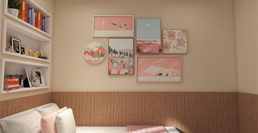 Quarto pequeno Interior Design Render