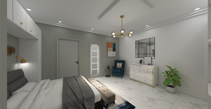 villa moderne et sympa Interior Design Render