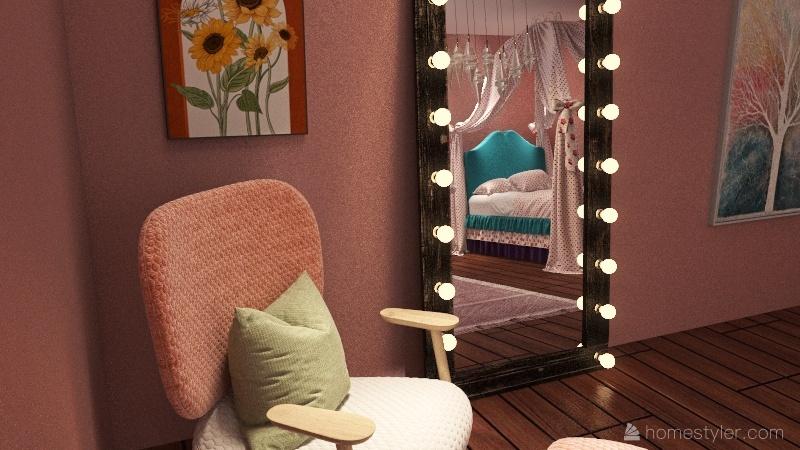 Twin rooms Interior Design Render