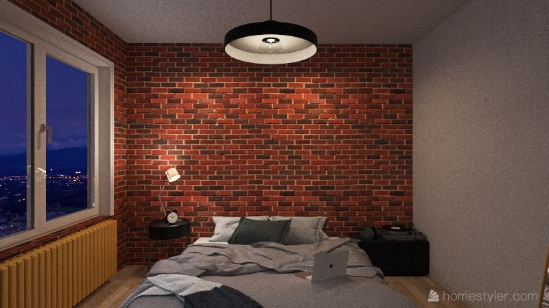 studio apartement Interior Design Render