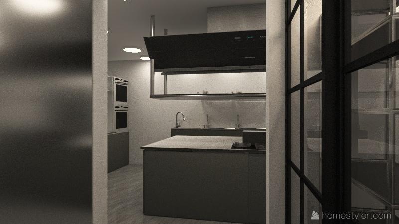 Villa Restaurant Interior Design Render