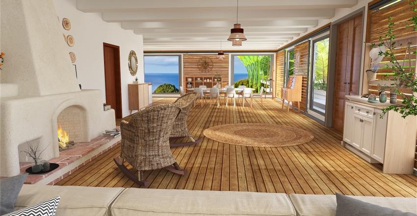 maison de vacances Interior Design Render