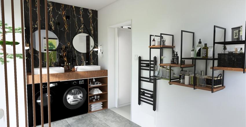 SALON Z KUCHNIĄ ZŁÓTÓW Interior Design Render