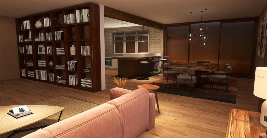 cosy home Interior Design Render