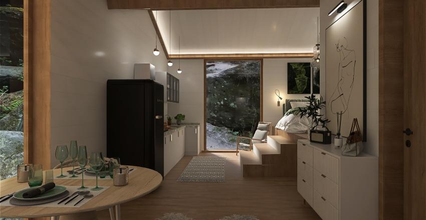 Luxury Cabin Interior Design Render