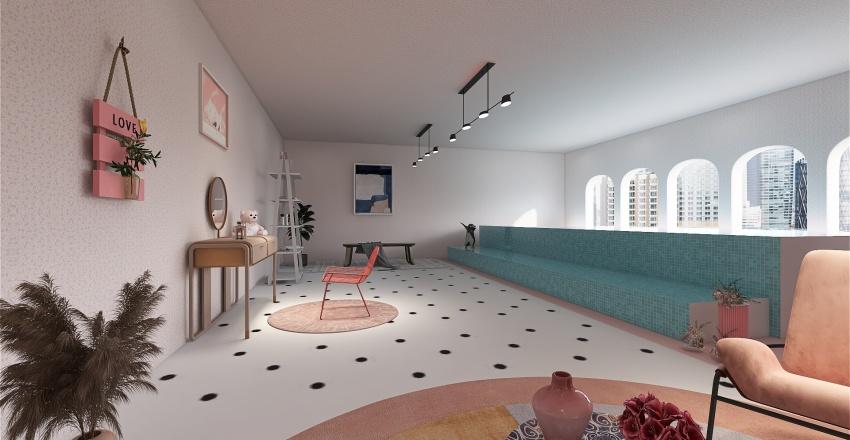 PINK POOL ROOM PROJECT Interior Design Render