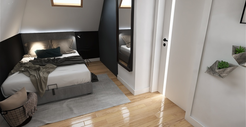 bedroom for a 20-years old man Interior Design Render