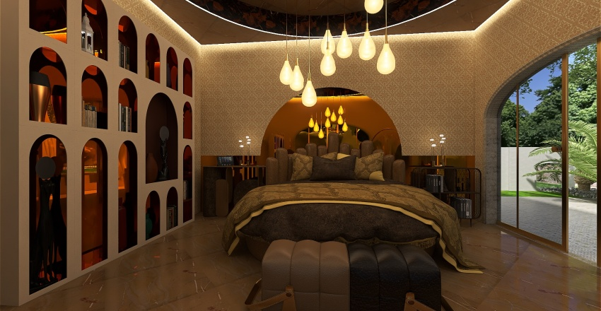 villa arabesch Interior Design Render