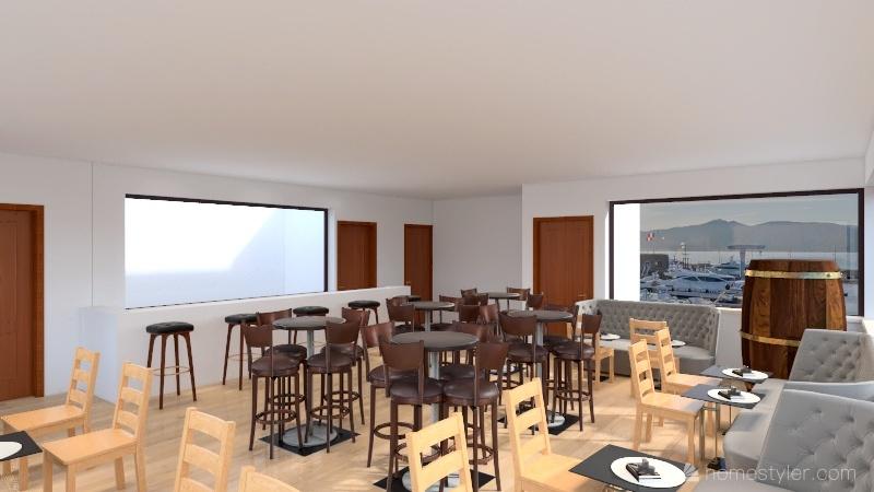 Copy of Projeto Bar Interior Design Render