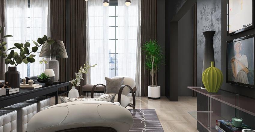 Metropolitan: deep, dark, delicious Interior Design Render