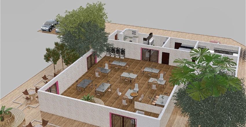 Cafetería Interior Design Render