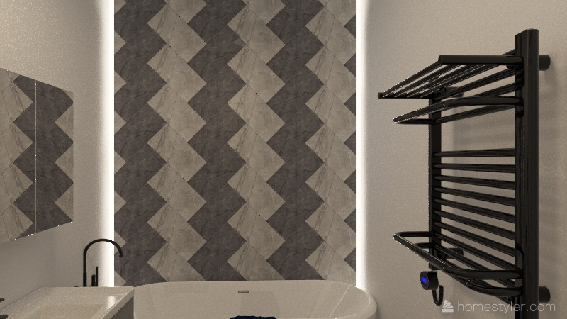 Scandinavian home Interior Design Render