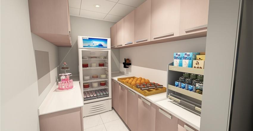 Hello Kitty Baker's House - Commercial Design Interior Design Render