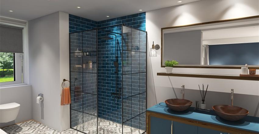 Moroccan Scandi mix Interior Design Render