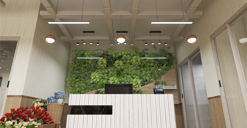 FLower Power shop Interior Design Render