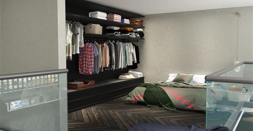v2_Slanted Wall Interior Design Render