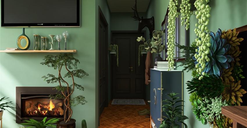 Green house and summer kitchen Interior Design Render