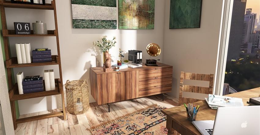 Woody place Interior Design Render