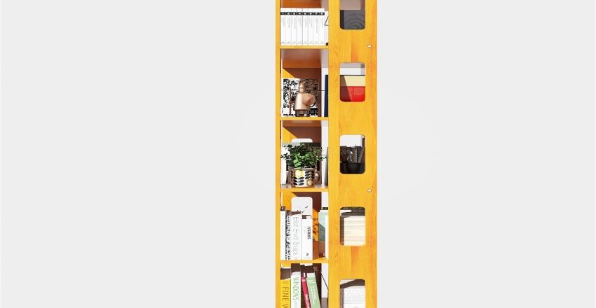 Book Shop Cafe Interior Design Render