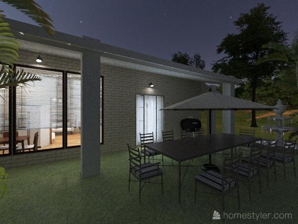 Minimalist House  Interior Design Render