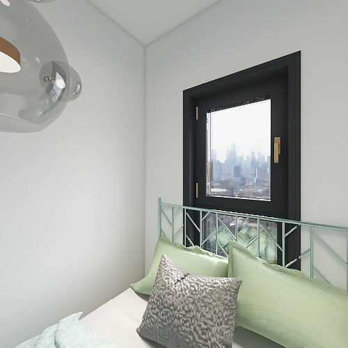apartamento pequeno bem pensado Interior Design Render