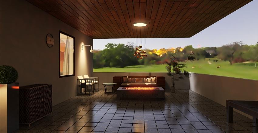 desert tile home Interior Design Render